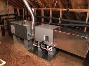 American Standard 80% Variable Speed Gas Furnace in an attic